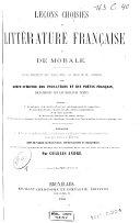 Leçons choisies de littérature française et de morale
