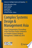 Complex Systems Design   Management Asia Book