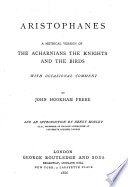 A Metrical Version of the Acharnians
