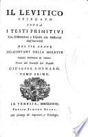 """""""Il"""" Levitico spiegato sopra i testi primitivi"""