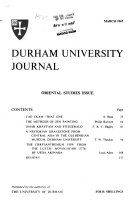 The Durham University Journal