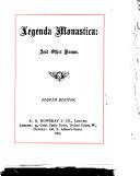 Legenda Monastica and Other Poems