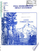 Nez Perce National Forest (N.F.), Cove Timber Sales, Idaho County