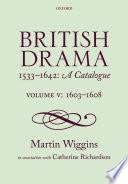 British Drama 1533 1642
