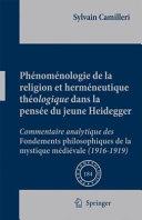 Pdf Phénoménologie de la religion et herméneutique théologique dans la pensée du jeune Heidegger Telecharger
