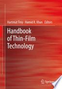 Handbook of Thin Film Technology Book
