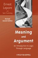 Meaning and Argument ebook