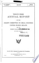 Annual Report Of The Select Committee On Small Business United States Senate
