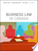 Business Law in Canada, Tenth Canadian Edition