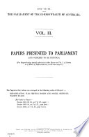 The Records of the Proceedings and the Printed Papers of the Sessions of Parliament
