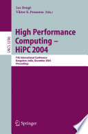 High Performance Computing Hipc 2004 Book