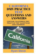 California DMV Practice Test Questions and Answers