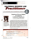 California Business Law Practitioner