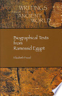 Biographical Texts From Ramessid Egypt