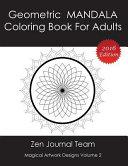Geometric Mandala Coloring Book For Adults