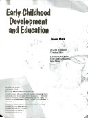 Early Childhood Development and Education