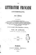 La littérature française contemporaine [1827- 1849!
