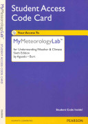 Understanding Weather   Climate New MyMeteorologyLab Access Card