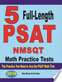 5 Full Length PSAT   NMSQT Math Practice Tests