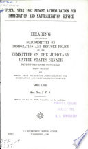 Fiscal Year 1982 Budget Authorization for Immigration and Naturalization Service