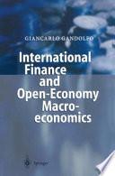 International Finance and Open Economy Macroeconomics
