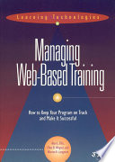 Managing Web Based Training Book PDF