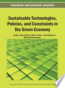 Sustainable Technologies  Policies  and Constraints in the Green Economy