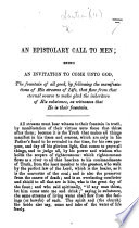 An epistolary call to men  being an invitation to come unto God     by following the manifestations of His streams of life  etc