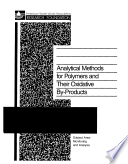 Analytical Methods for Polymers and Their Oxidative By-Products by Michael Fielding PDF