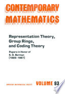 Representation Theory  Group Rings  and Coding Theory