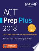 ACT Prep Plus 2018 Book