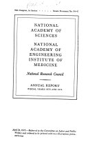 Annual Report National Academy Of Sciences