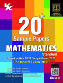Xam Idea 20 Plus CBSE Sample Papers Mathematics  Standard  Class 10 for 2020 Exam