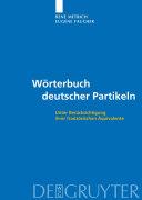 Pdf Wörterbuch deutscher Partikeln Telecharger