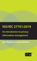 ISO/IEC 27701:2019: An introduction to privacy information management [Pdf/ePub] eBook