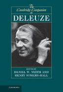 The Cambridge Companion to Deleuze