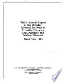 Annual Report of the Director, National Institute of Arthritis, Diabetes, and Digestive and Kidney Diseases