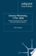 Literary Minstrelsy, 1770-1830