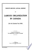 Annual Report on Labour Organization in Canada