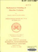 Mathematical Modeling Of Shoreline Evolution