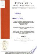 Texas forum on civil liberties & civil rights