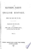 Matthew Paris S English History
