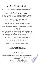Voyage par le Cap de Bonne-Espérance a Batavia. a Bantam et au Bengale, en 1768, 69, 70 et 71