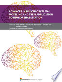 Advances in Musculoskeletal Modeling and their Application to Neurorehabilitation Book