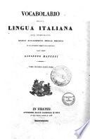 Vocabolario della lingua italiana