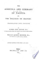The Agricola And Germany Of Tacitus PDF