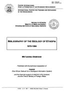 Bibliography of the Geology of Ethiopia