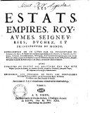Les estats, empires, royaumes,seigneuries, duchez & principautez du monde