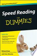 Speed Reading For Dummies Pdf/ePub eBook