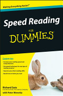 Speed Reading For Dummies ebook